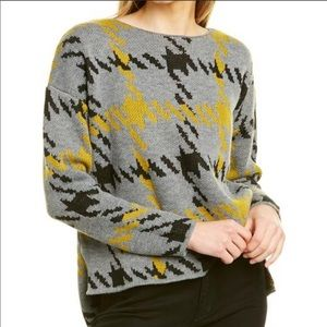 Jamison slouchy gray houndstooth sweater